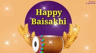 Happy Baisakhi wishes Video Digitale display (16:9) template