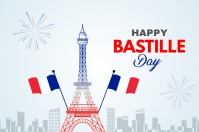 Happy Bastille day Banner 4' × 6' template
