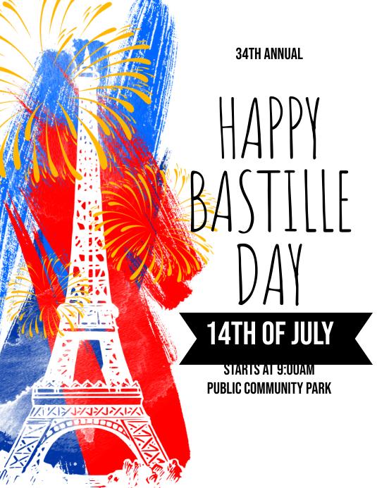 Happy Bastille Day Flyer