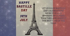 HAPPY BASTILLE DAY TEMPLATE Facebook-Anzeige