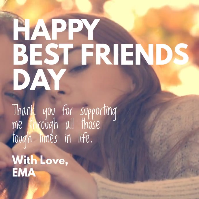 Happy Best Friends Day Template Postermywall