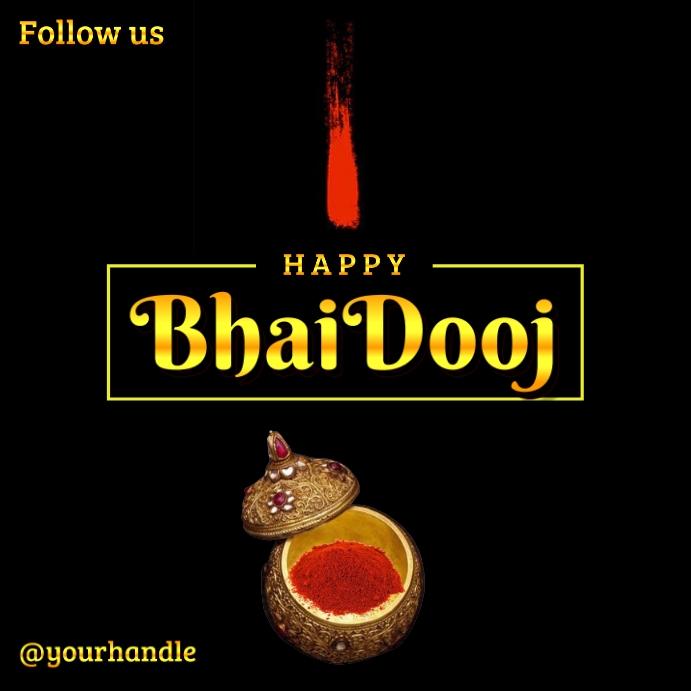 Happy Bhai Dooj 2020 Post Template Message Instagram
