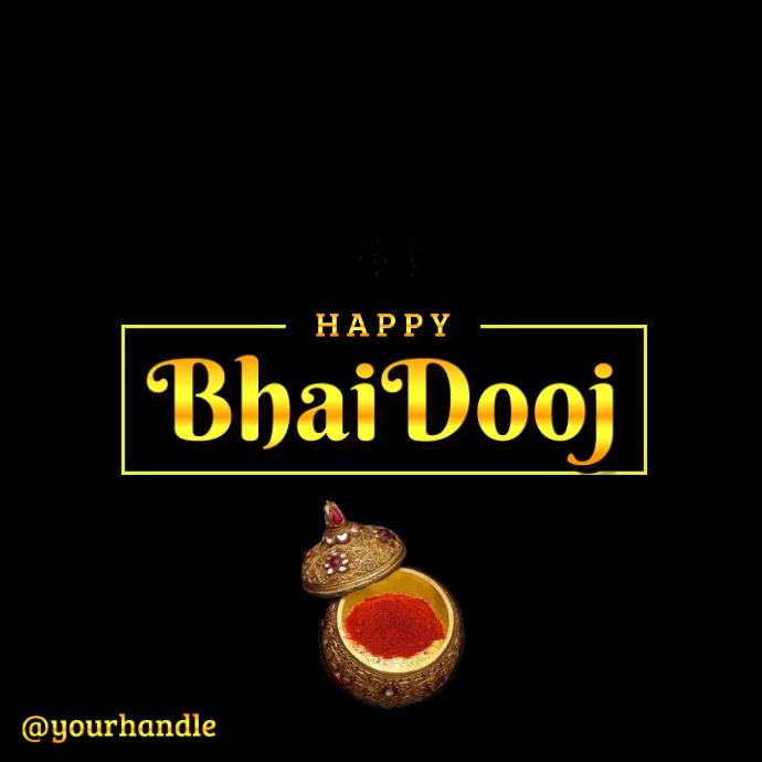 Happy Bhai Dooj Video Template Message Instagram