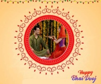 Happy Bhai Dooj wishes Font Animated Template Middelgrote rechthoek