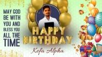happy birthday, birthday, birthday party Digital Display (16:9) template
