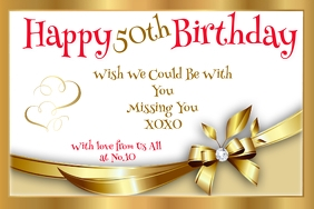HAPPY BIRTHDAY 50TH Poster template