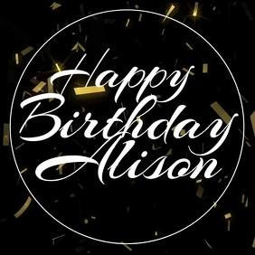 Happy Birthday Allison Golden Confetti