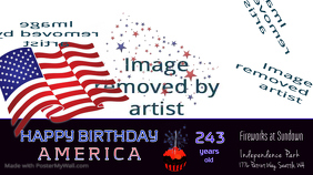 Happy Birthday America Digital Display