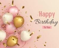 Happy Birthday animated video Medium Rectangle template