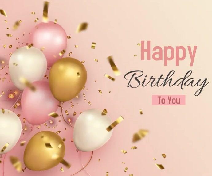Happy Birthday animated video Средний прямоугольник template
