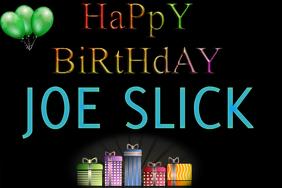 Happy Birthday Announcement