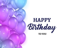 Happy Birthday Balloons decoration background Large Rectangle template