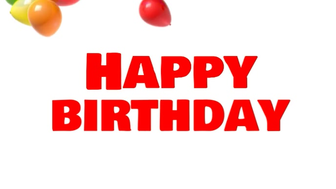 Happy Birthday Balloons Video Celebration