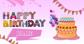 Happy Birthday Bday Facebook Shared Image template