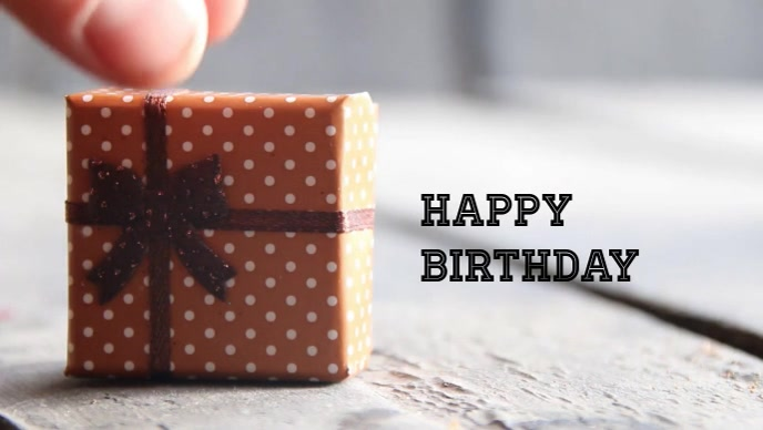 Happy Birthday best wishes poster template