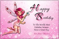 Happy Birthday Card Poster template