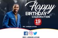 Happy Birthday Celebration Etichetta template