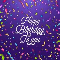 Happy Birthday Celebration Greeting Card Instagram-Beitrag template