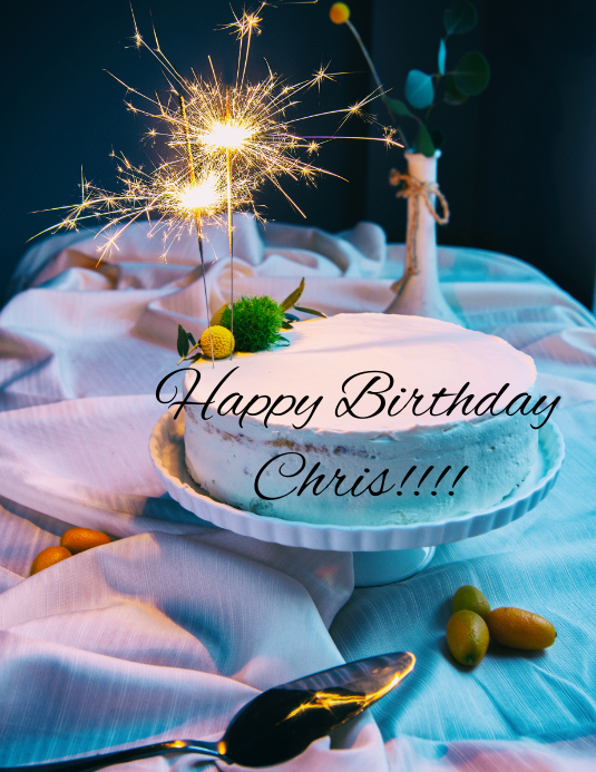 Sensational Happy Birthday Chris Template Postermywall Funny Birthday Cards Online Eattedamsfinfo