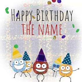 Happy Birthday Color Dots 2