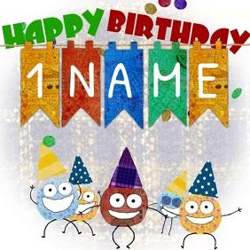 Happy Birthday Color Dots
