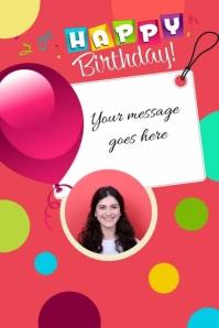 happy birthday cumpleaños Poster template