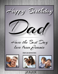 Happy BirthDay Dad Poster/Wallboard template