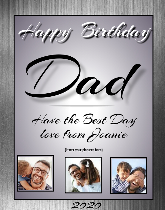 Happy BirthDay Dad Affiche/Panneau mural template