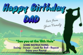 Happy Birthday Dad - Golfer