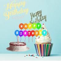 Happy Birthday Dear Album Omslag template