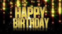 Happy Birthday Dear YouTube Thumbnail template