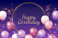 happy birthday design background Poster template