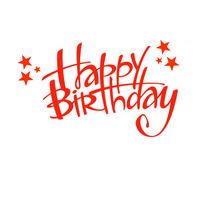 Happy Birthday Logo template