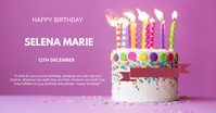 Happy birthday Imagem partilhada do Facebook template