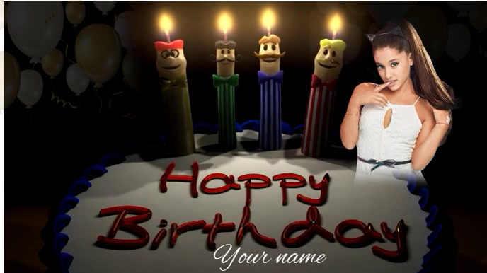 Happy Birthday Digitalt display (16:9) template