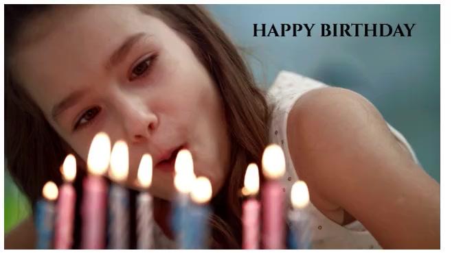 happy birthday Foto de Portada de Canal de YouTube template