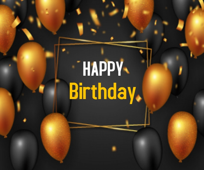 Happy Birthday Rectángulo Mediano template