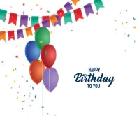 Happy Birthday Design Large Rectangle template