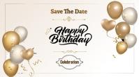 happy birthday YouTube Kanaal Omslag Foto template