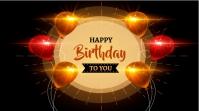 Happy Birthday Design Digitale display (16:9) template