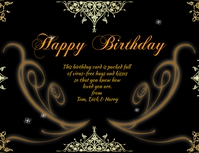 Happy Birthday Flyer (US Letter) template