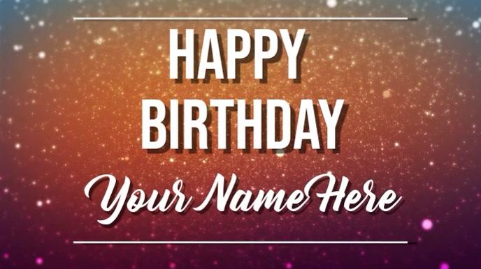happy birthday Digitale display (16:9) template