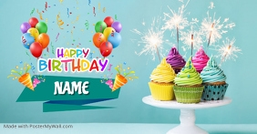 Happy Birthday Facebook Shared Image template