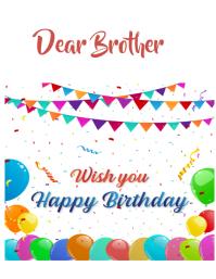 happy birthday Volante (Carta US) template