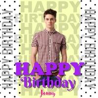 Happy Birthday Publicación de Instagram template