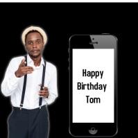 Happy Birthday Instagram-bericht template