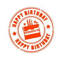 Happy Birthday Logotyp template