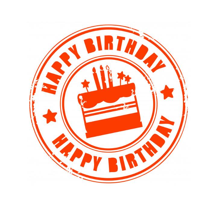 Happy Birthday Logótipo template