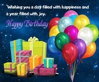 Happy birthday Medium Reghoek template