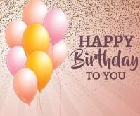 happy birthday Grote rechthoek template